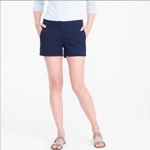 "J. Crew Chino 5"" City Fit Navy Color Shorts Sz 6"